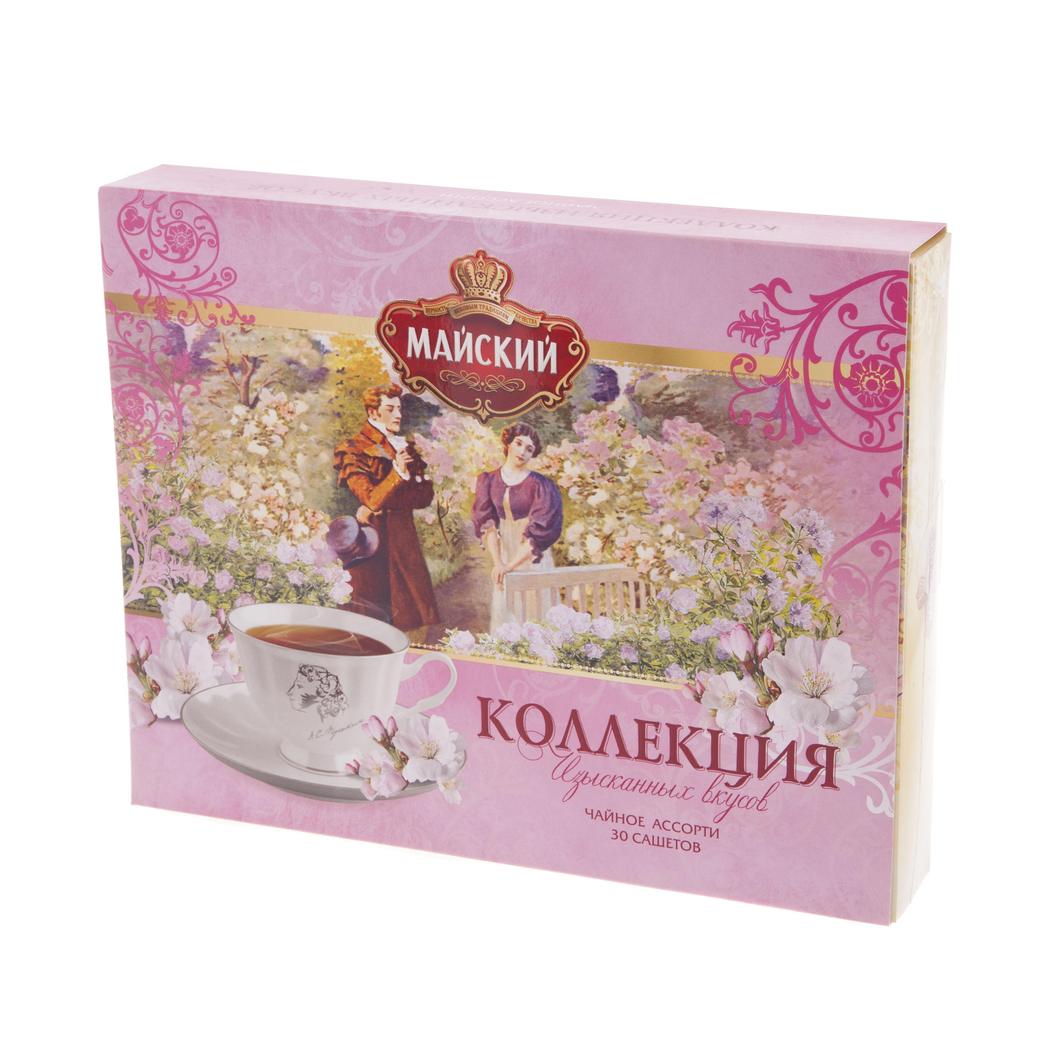 Чай Майский Коллекция изысканных вкусов tess коллекция 9 вкусов листового чая в пирамидках 45 шт