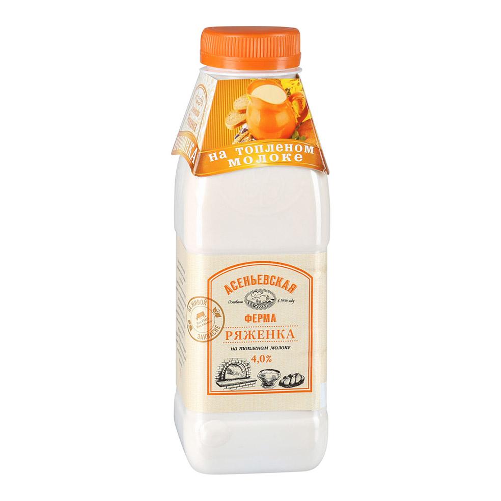 Ряженка Асеньевская Ферма на топленом молоке 4% 450 г фото