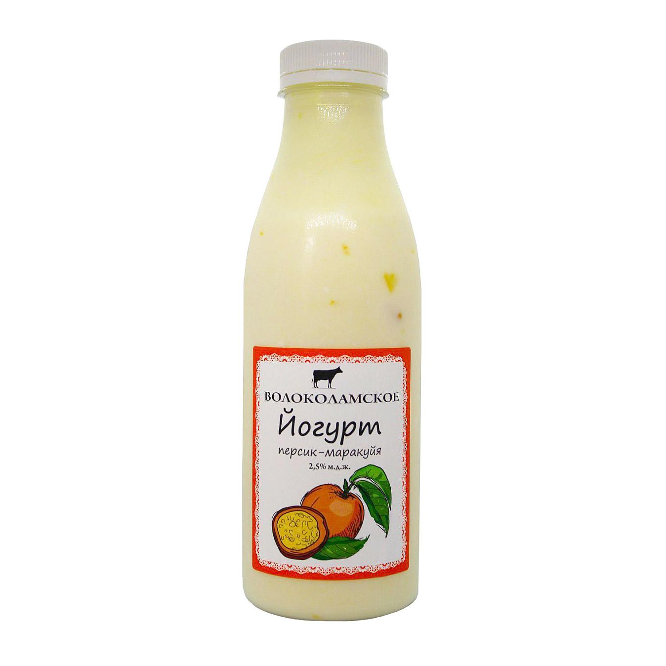 Йогурт питьевой Волоколамское Маракуйя-Персик 2,5%, 500 г недорого