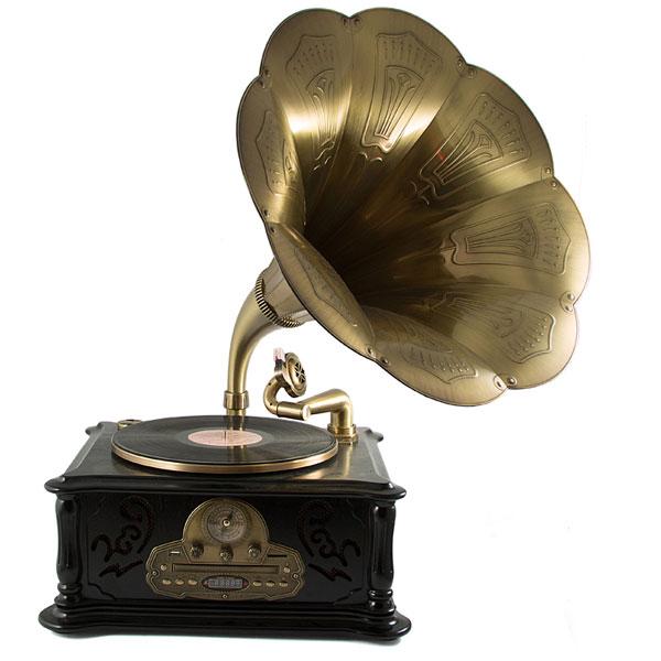 Музыкальный центр-ретро Русские подарки Граммофон с пультом 39х45х85 см