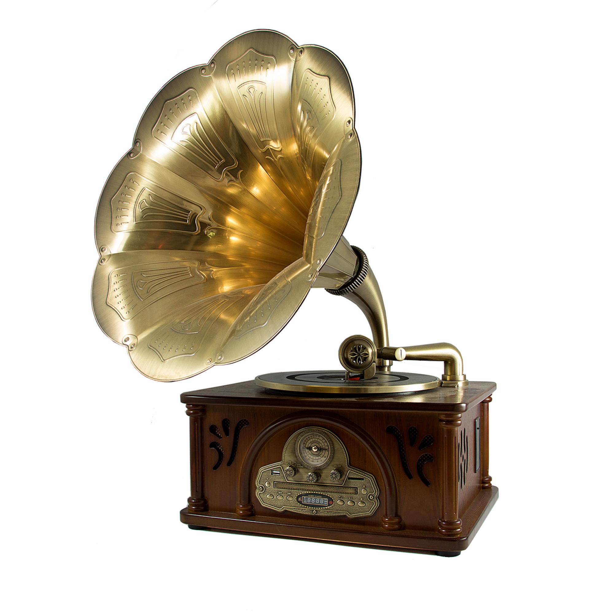 Музыкальный центр-ретро Русские подарки Граммофон музыкальный фото