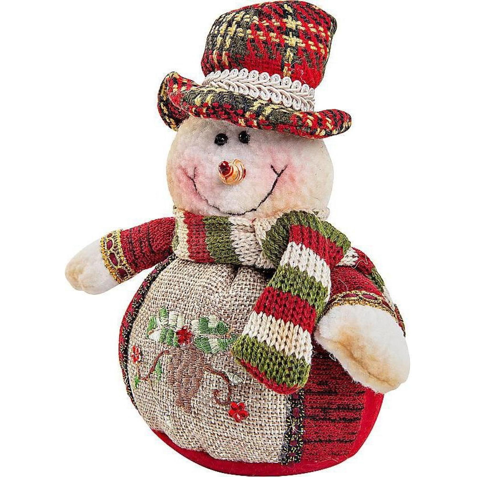 Игрушка мягкая Mister Christmas Снеговик 12 см