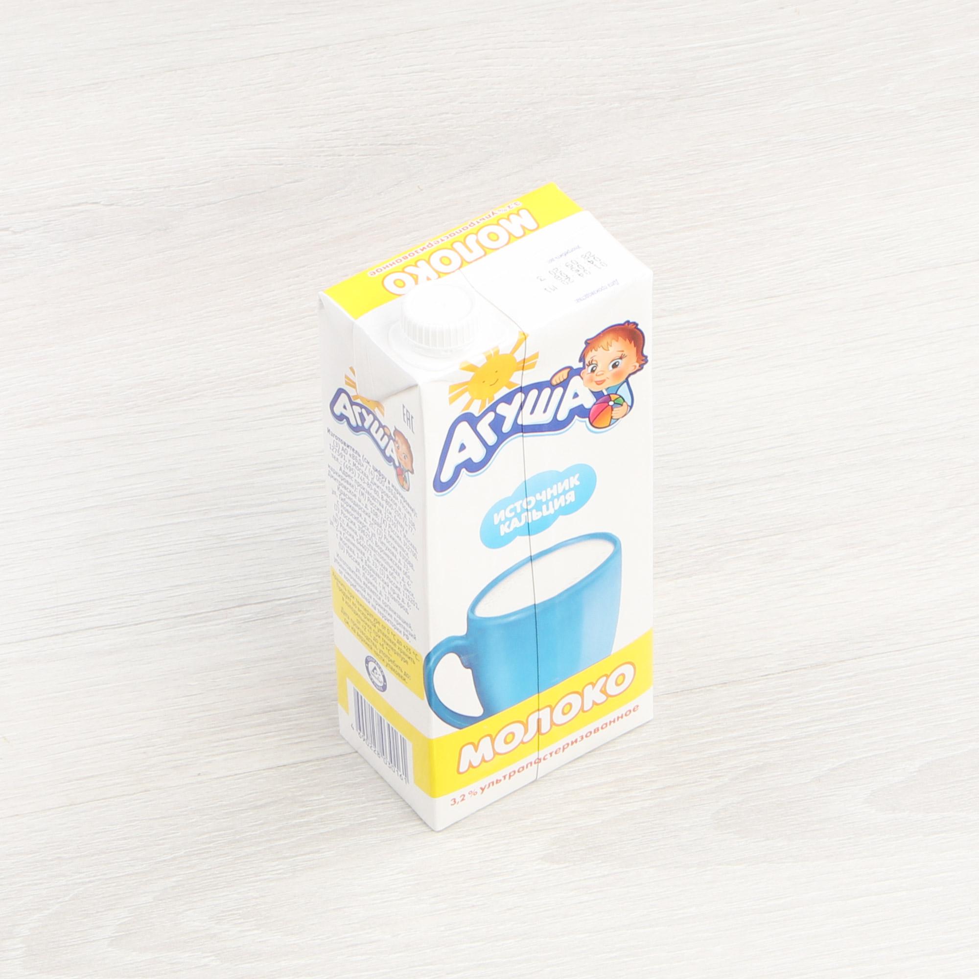 Молоко Агуша ультрапастеризованное 3,2% 925 мл
