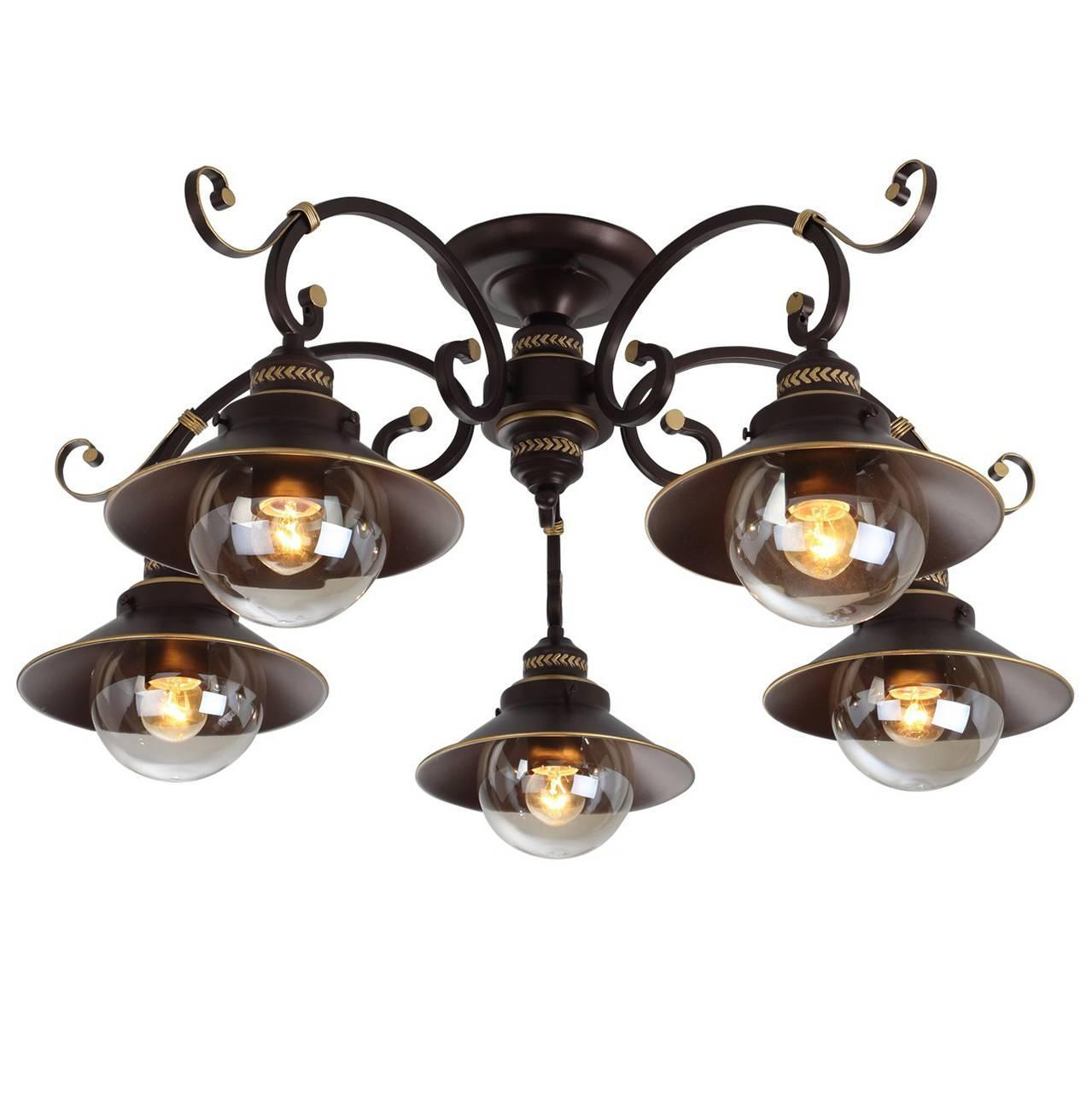 Фото - Потолочная люстра Arte Lamp 7 A4577PL-5CK люстра потолочная arte lamp gelo a6001pl 9bk