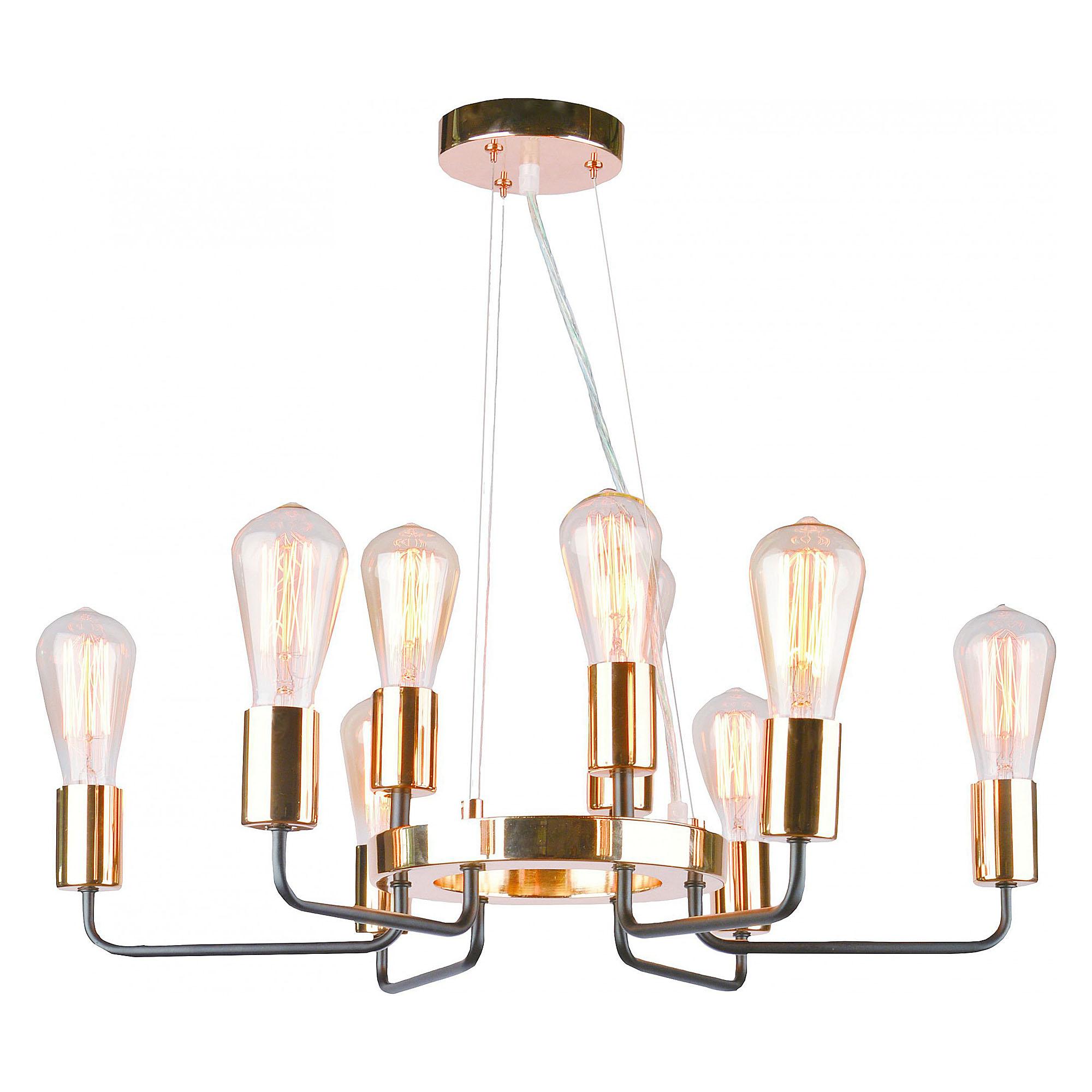 Фото - Люстра потолочная Arte Lamp A6001LM-9BK люстра потолочная arte lamp gelo a6001pl 9bk