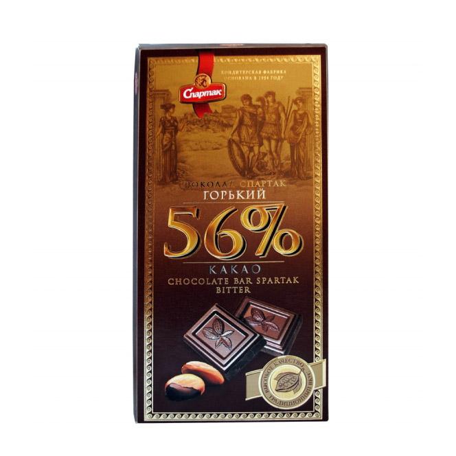 шоколад спартак горький 72% какао 90 г Шоколад Спартак горький 56% 90 г