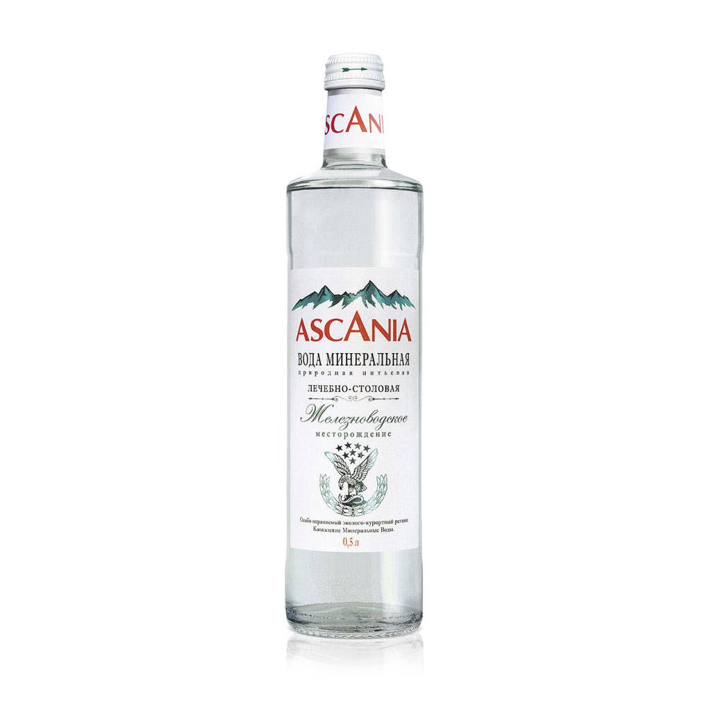 Вода минеральная Ascania газированная лечебно-столовая 0,5 л парфюмерная вода ascania anxious heart 40 мл