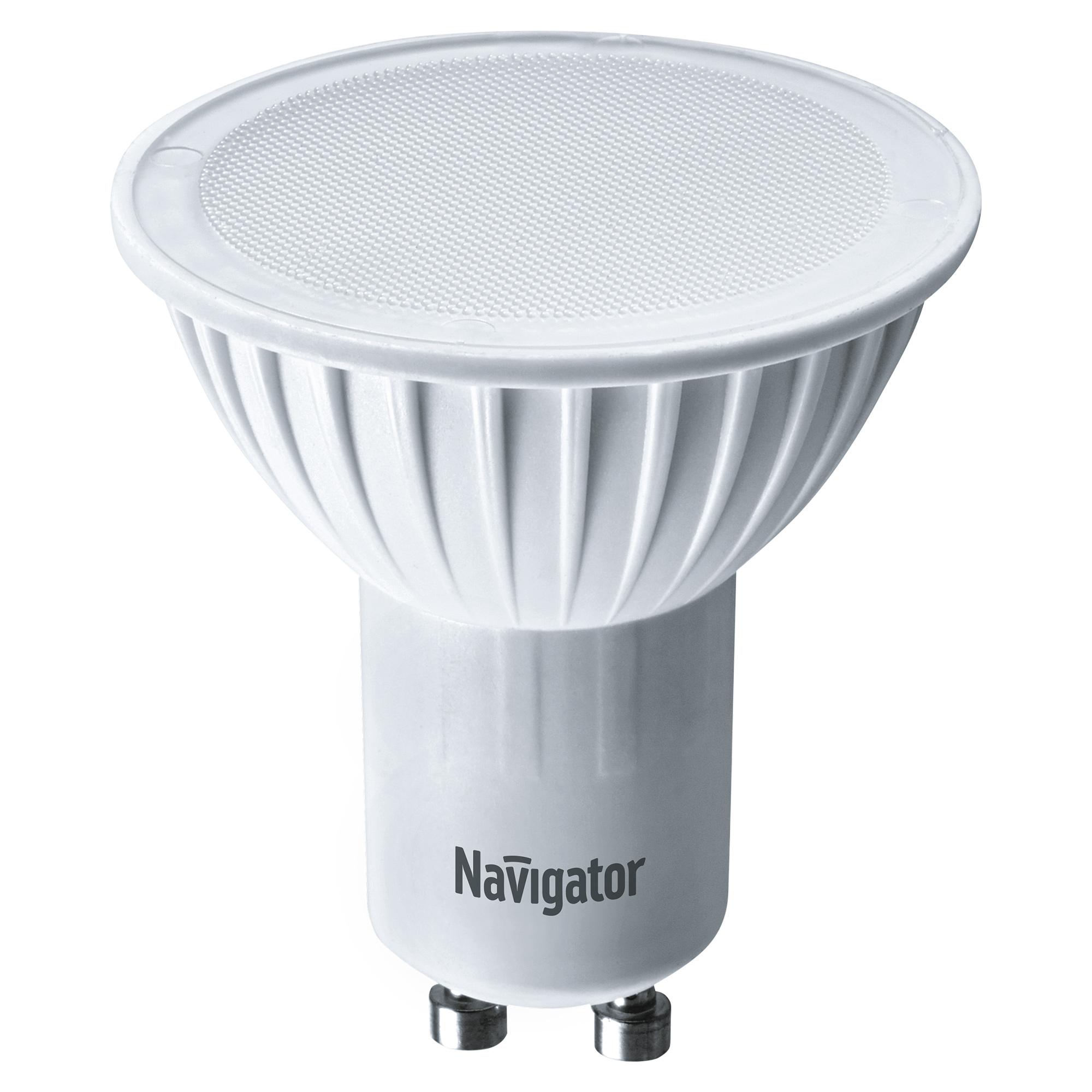 Фото - Лампа светодиодная Navigator PAR16 7Вт цоколь GU10 (холодный свет) лампа люминесцентная navigator t5 6вт цоколь g5 холодный свет