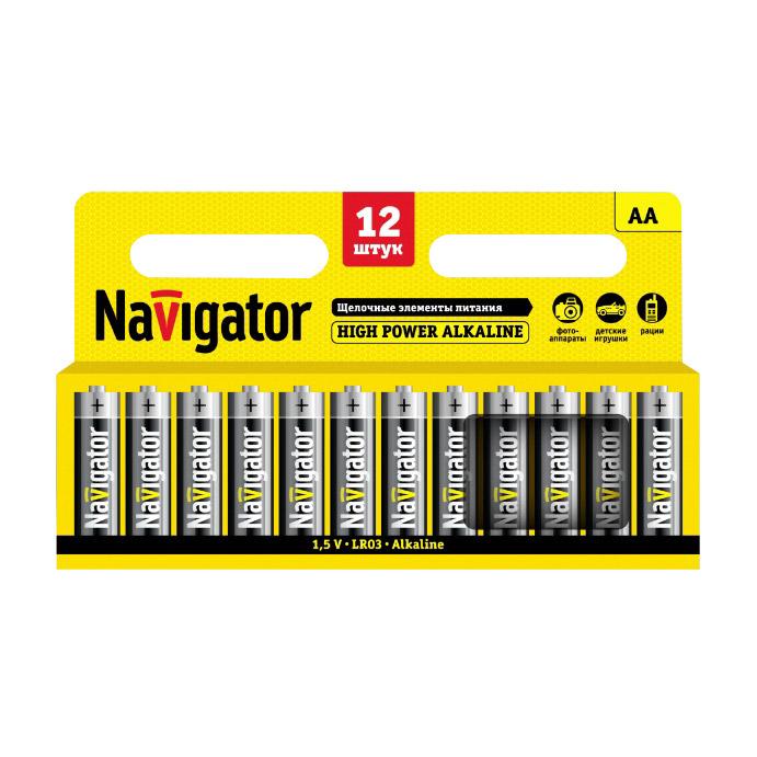 Батарейки Navigator AA NBT-NE-LR6-BP12 12 шт фото