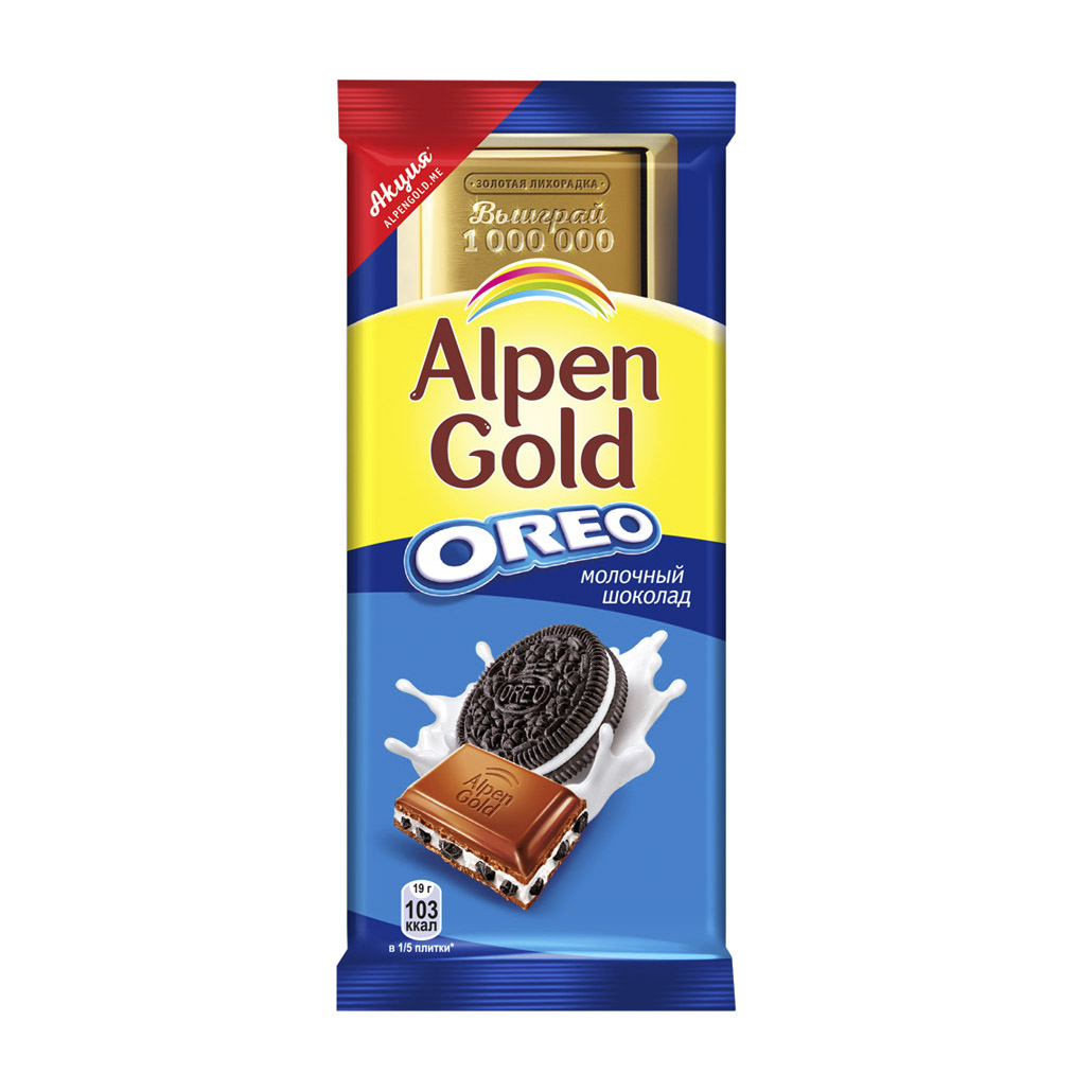 Шоколад Alpen Gold Oreo молочный 95 г ross f oreo