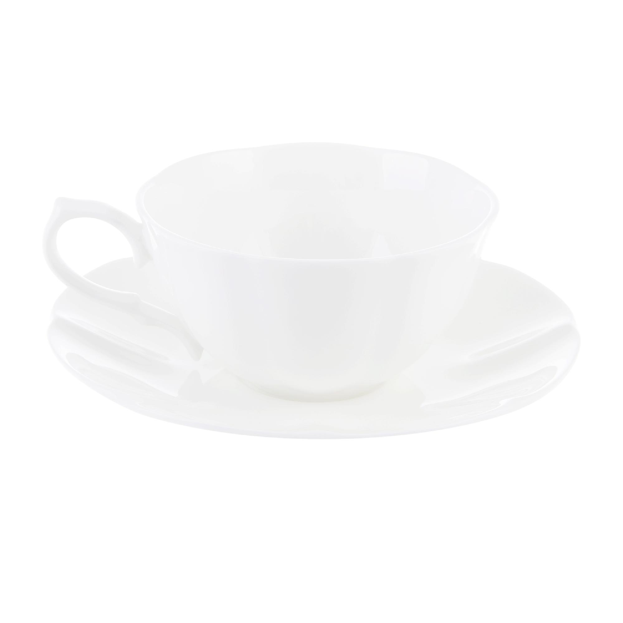 Чашка чайная 370 мл с блюдцем империал бел, Hatori