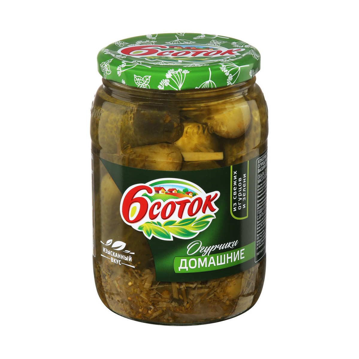Фото - Огурцы 6 соток домашние 680 г ассорти овощное 6 соток маринованное консервированное 680 г