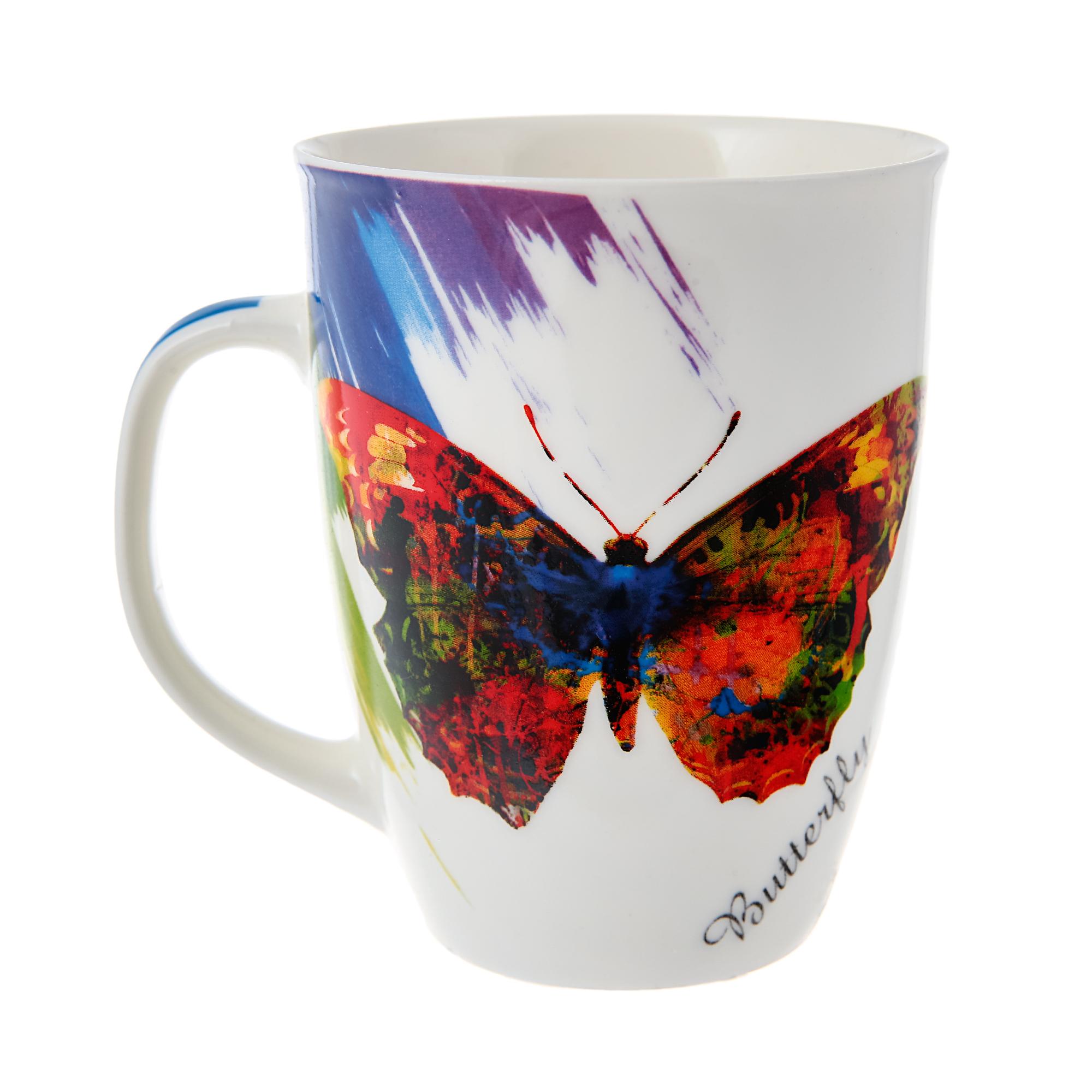 Купить Кружка Loraine бабочка 340 мл, Китай, фарфор