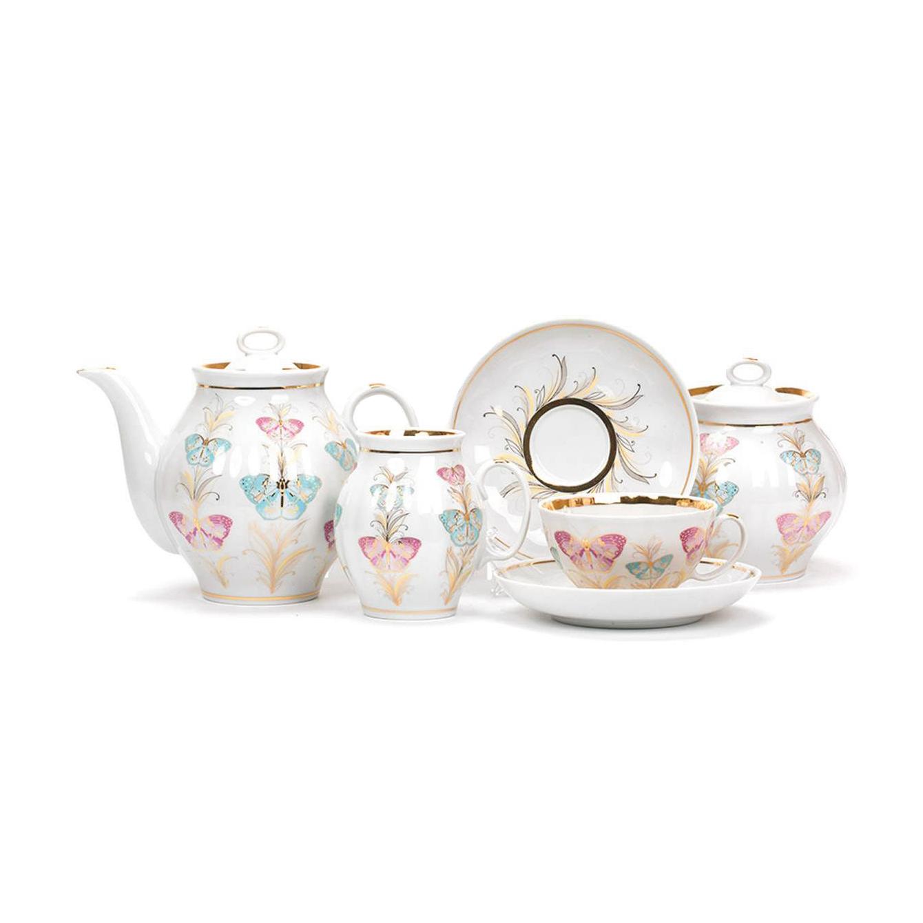 Чайный сервиз Дулево Фантазия 6 персон 15 предметов
