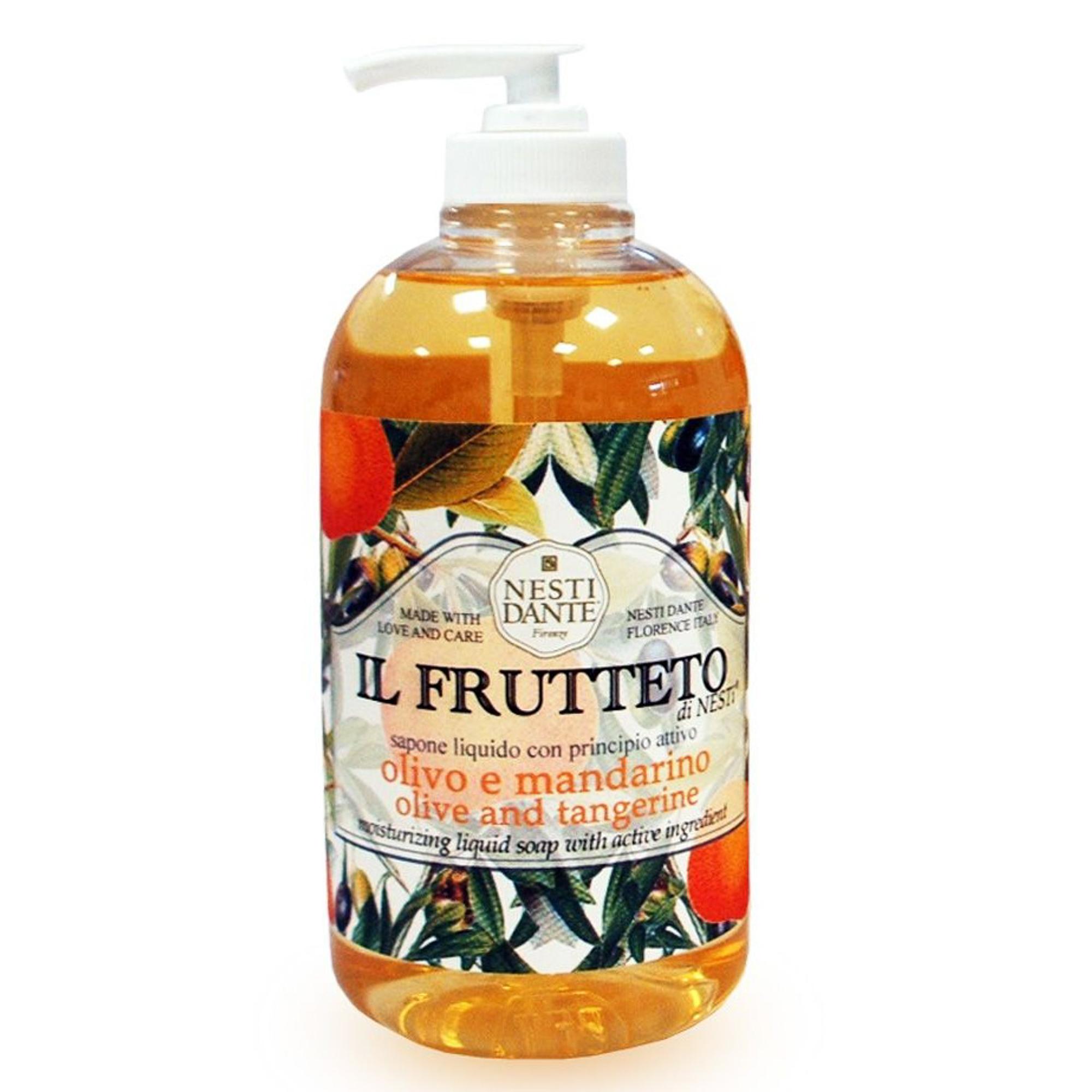 Мыло жидкое оливковое масло/мандарин 500мл Nesti dante жидкое мыло nesti dante философия коллаген 500 мл
