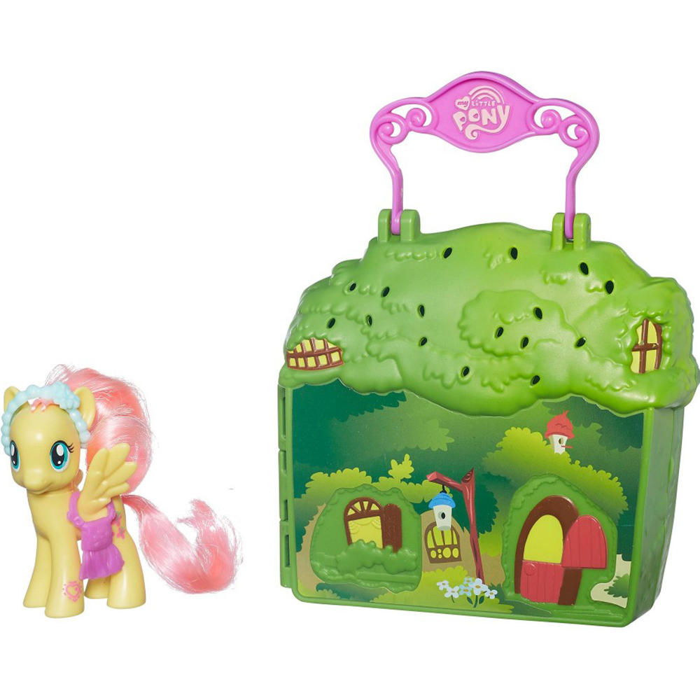 Купить Игровой набор Hasbro My Little Pony Флаттершай В5391, разноцветный, пластик, для девочек, Наборы игровые