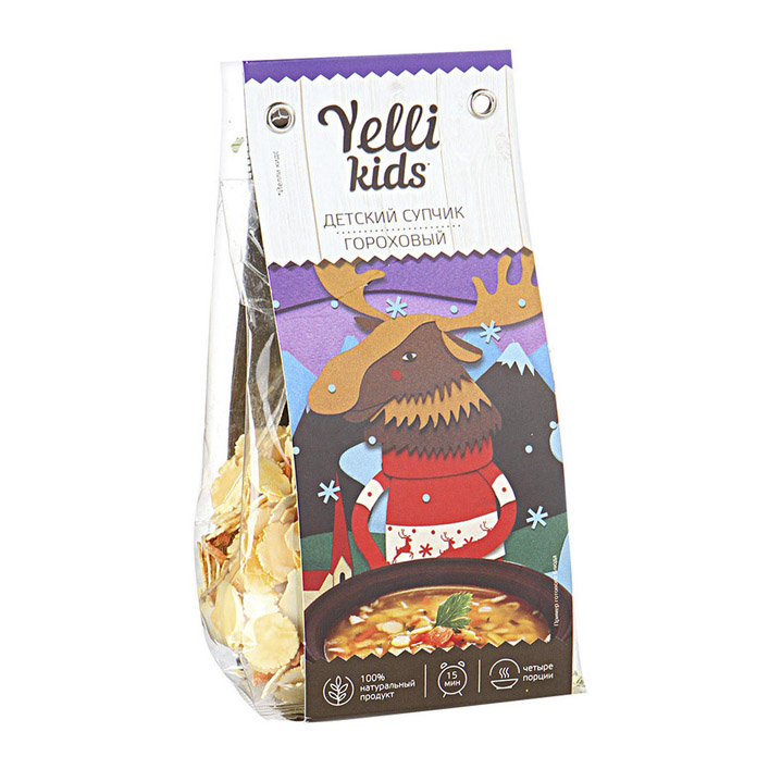 Суп Yelli Kids гороховый 100 г суп yelli из фасоли азиатский 250 г