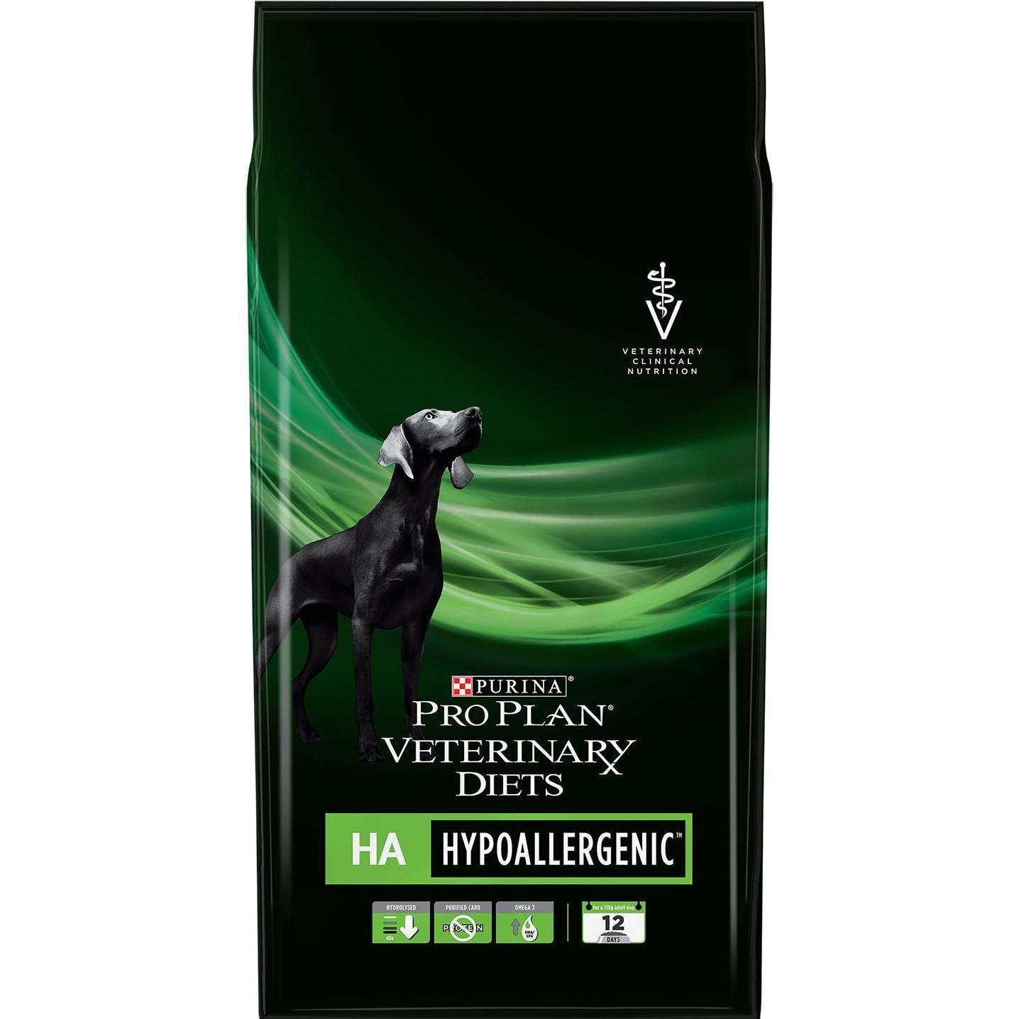 Корм для собак PRO PLAN Veterinary Diets HA Hypoallergenic При пищевой аллергии 3 кг