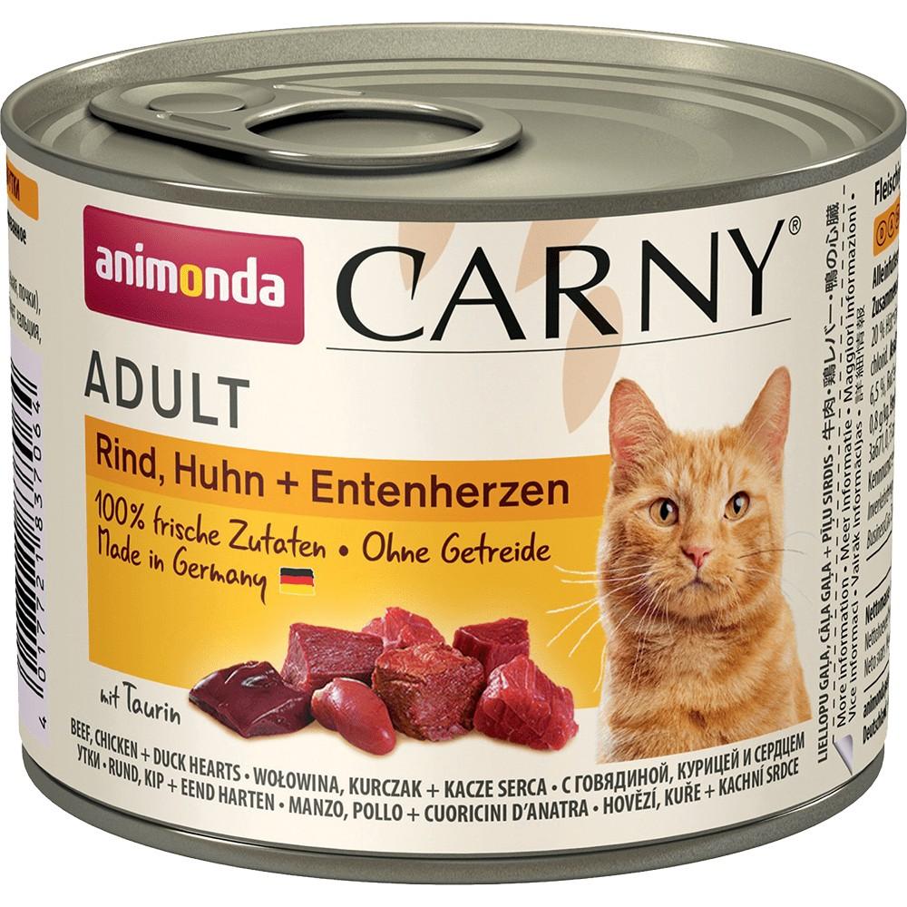 Корм для кошек Animonda Carny Adult С говядиной, курицей и уткой 200 г
