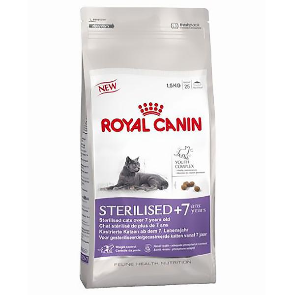 Корм для кошек ROYAL CANIN Sterilised +7 для кастрированных и стерилизованных старше 7 лет птица 400г.