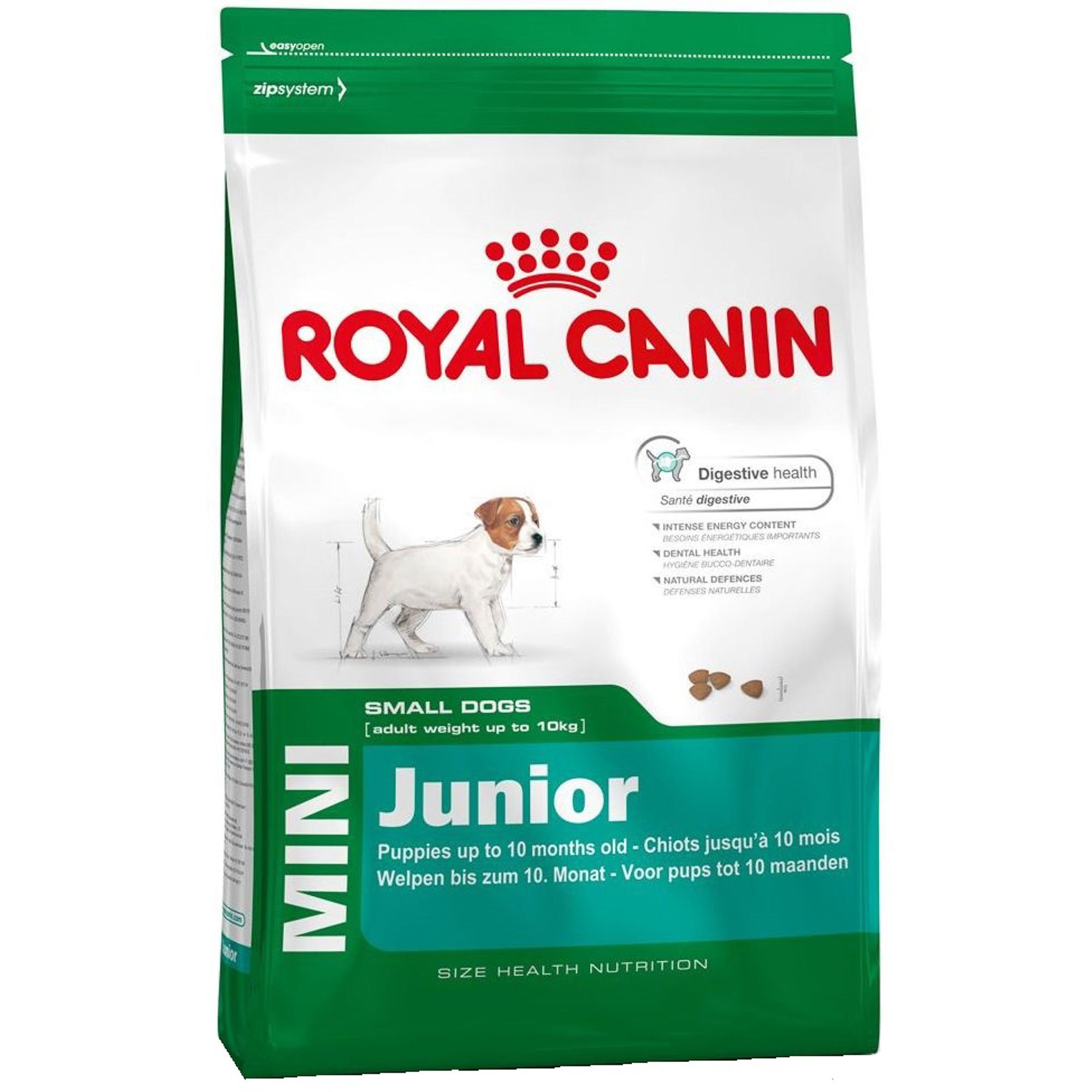 Корм для щенков Royal Canin JUNIOR для мелких пород с 2 до 10 месяцев 2 кг.