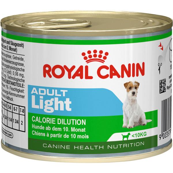Корм для собак Royal Canin Adult Light с 10 месяцев до 8 лет предрасположенных к полноте 195 г.