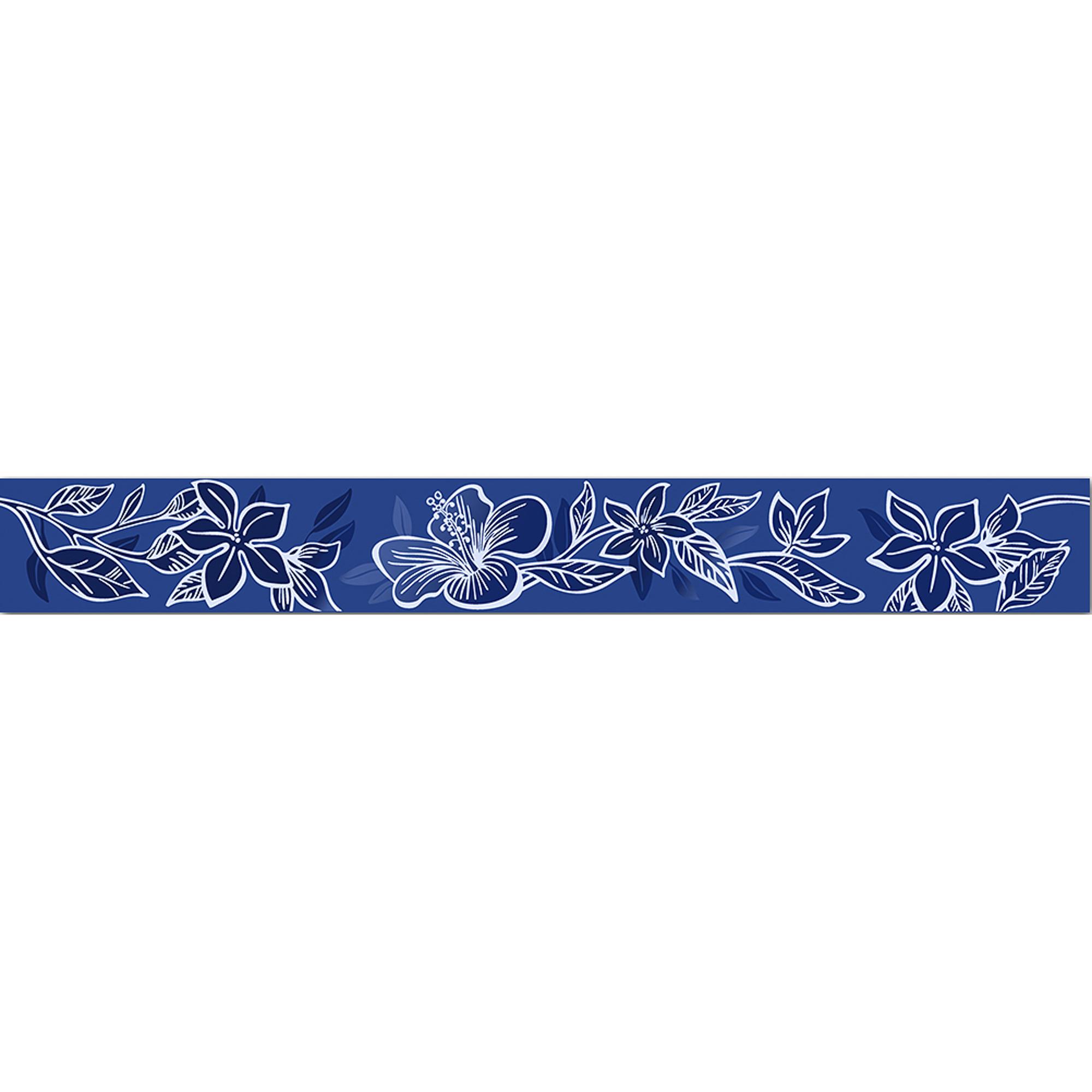 Бордюр Kerlife Elissa Blu Fiore 50,5x6,2 см