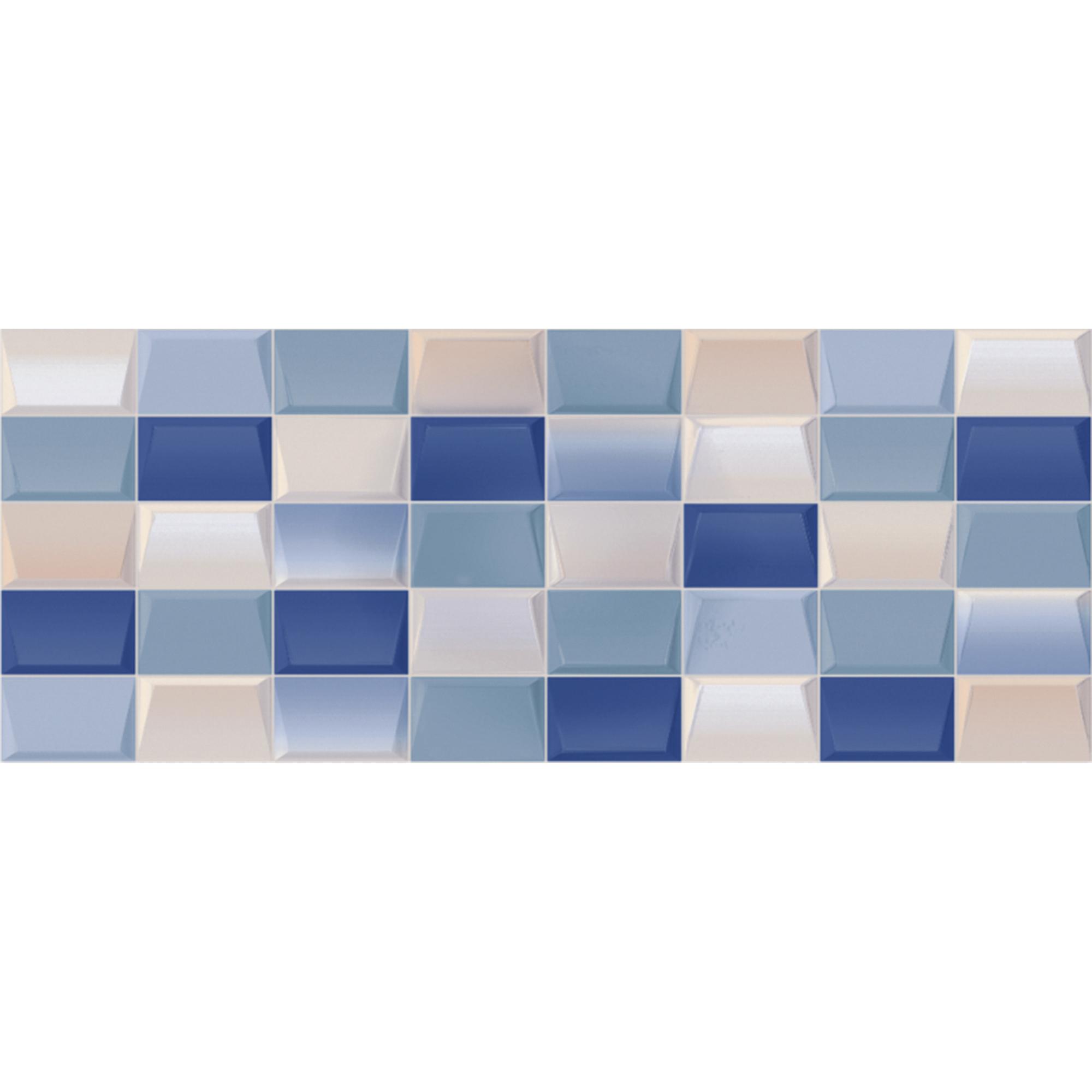 Плитка Kerlife Elissa Blu Mosaico 20,1x50,5 см керамическая плитка porcelanosa marmol carrara blanco p34705131 настенная 31 6х90 см