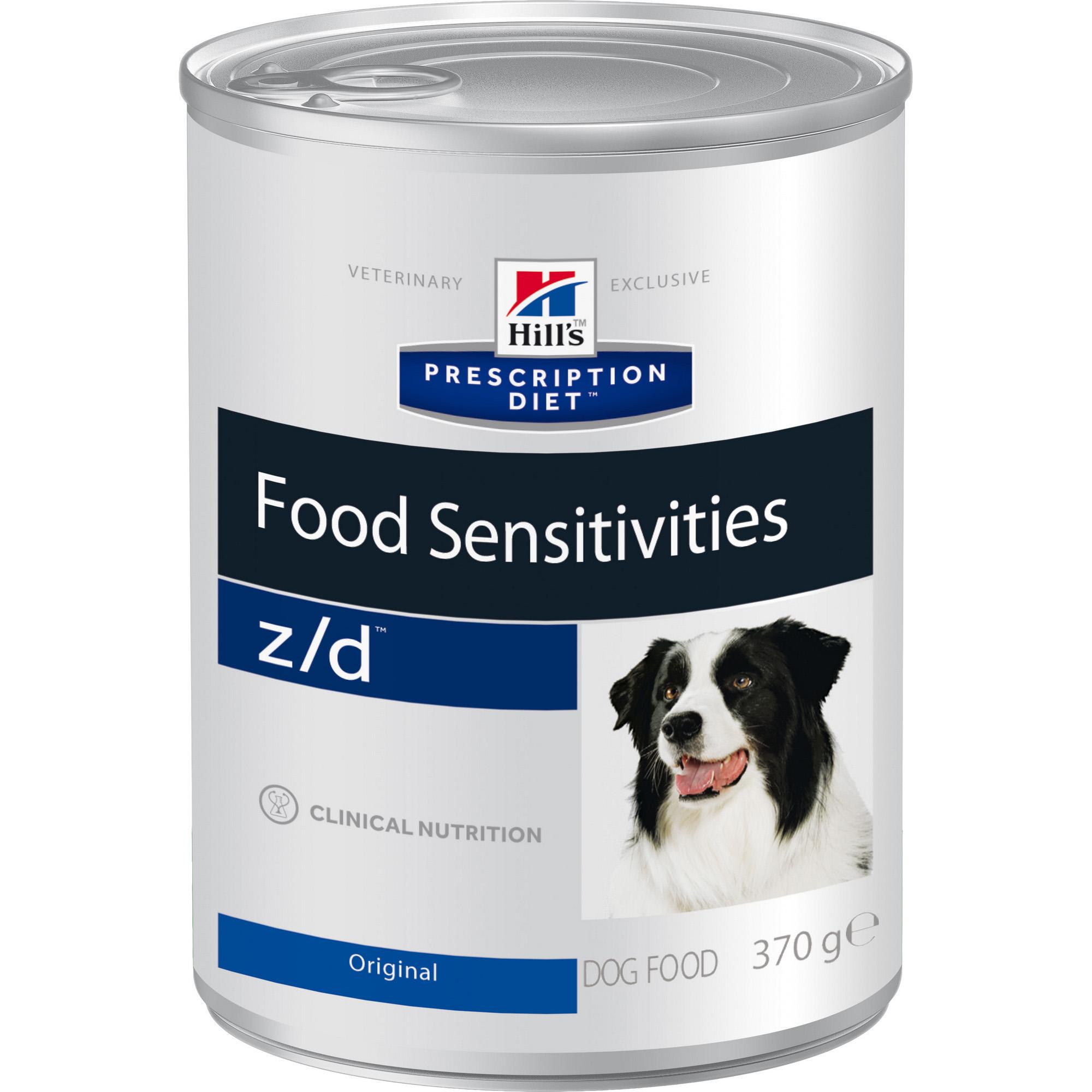 Фото - Корм для собак Hill's Prescription Diet Food Sensitivities z/d При пищевой аллергии 370 г корм для собак hill s prescription diet canine z d ultra при пищевой аллергии конс 370г
