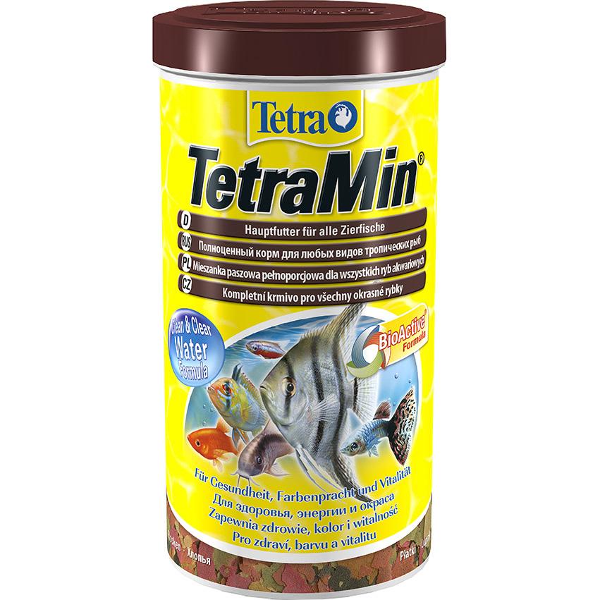 Корм для рыб Tetra TetraMin для всех видов тропических рыб хлопья 1 л.