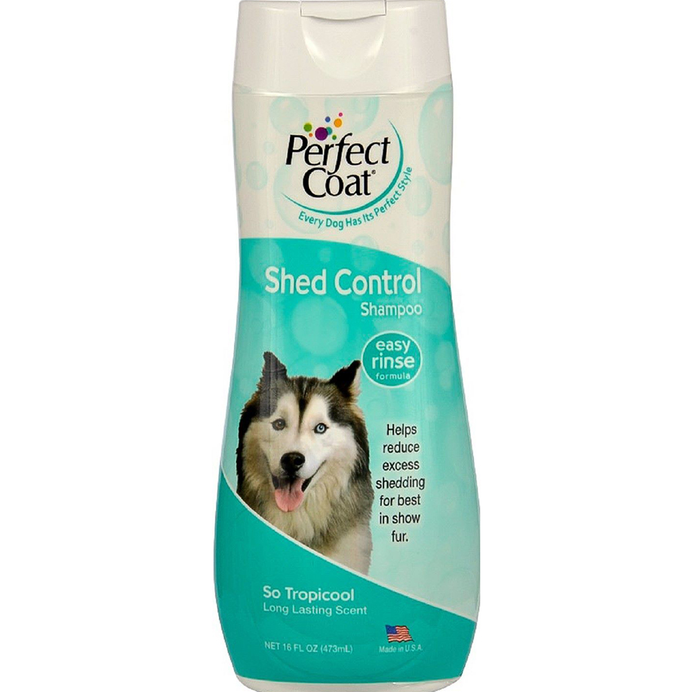 Шампунь для собак 8 in 1 Perfect Coat Shed Control Tropical Mist 473 мл.