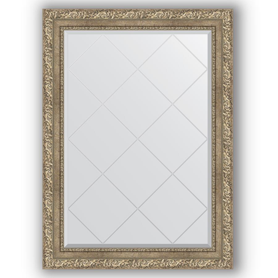 Зеркало в багетной раме Evoform античное серебро 75x102 см фото