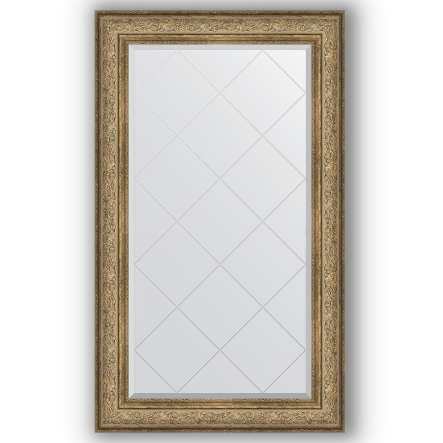 Зеркало в багетной раме Evoform античная бронза 80x135 см фото