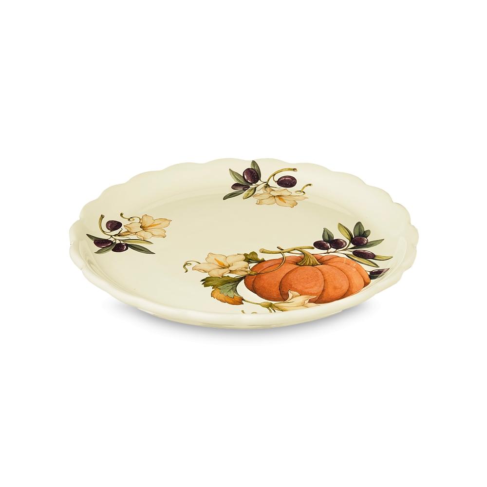 Тарелка обеденная Nuova cer Тыква 26,5 см фото