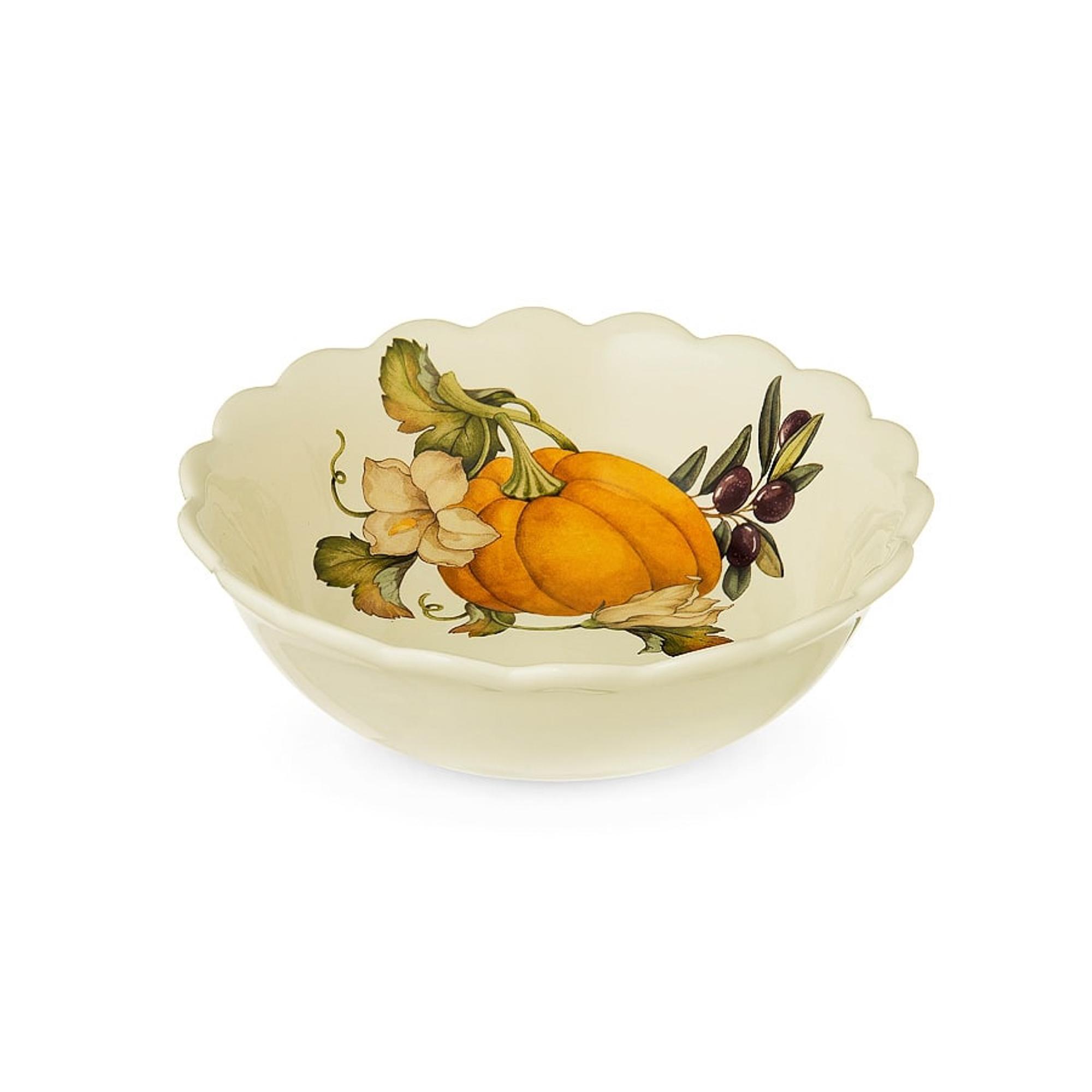 Тарелка суповая Nuova cer Тыква 20,5 см фото