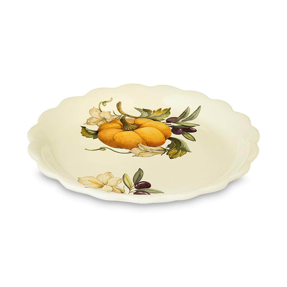 Тарелка закусочная Nuova cer Тыква 21 см фото