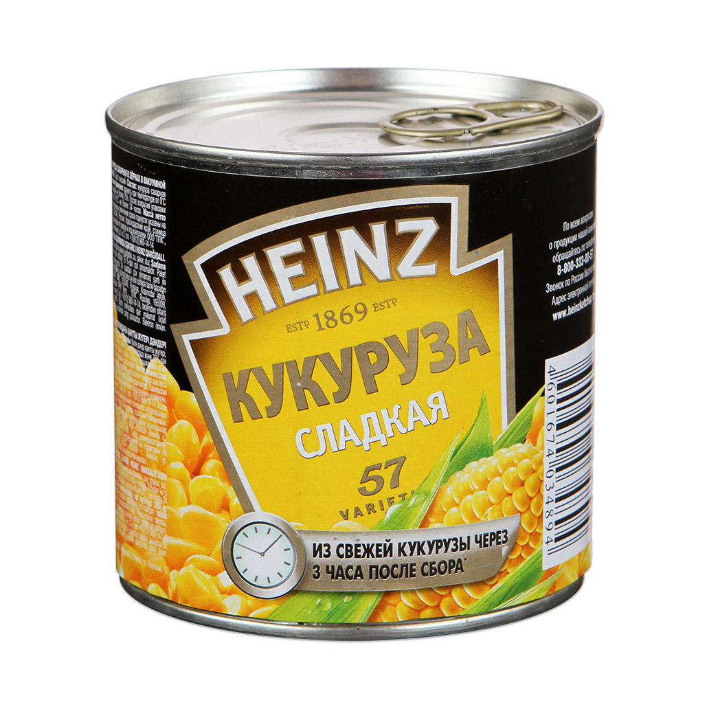 Кукуруза Heinz 340 г.