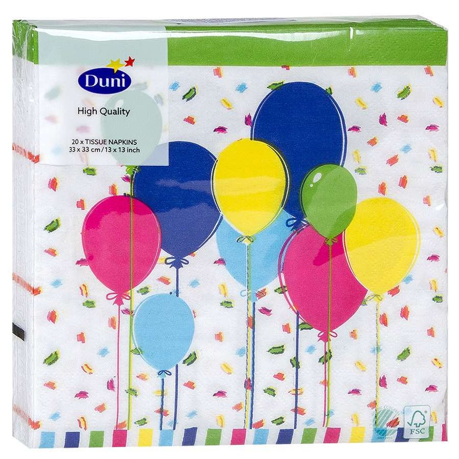 Салфетки Duni Balloons and Confetti 33х33 см 20 шт