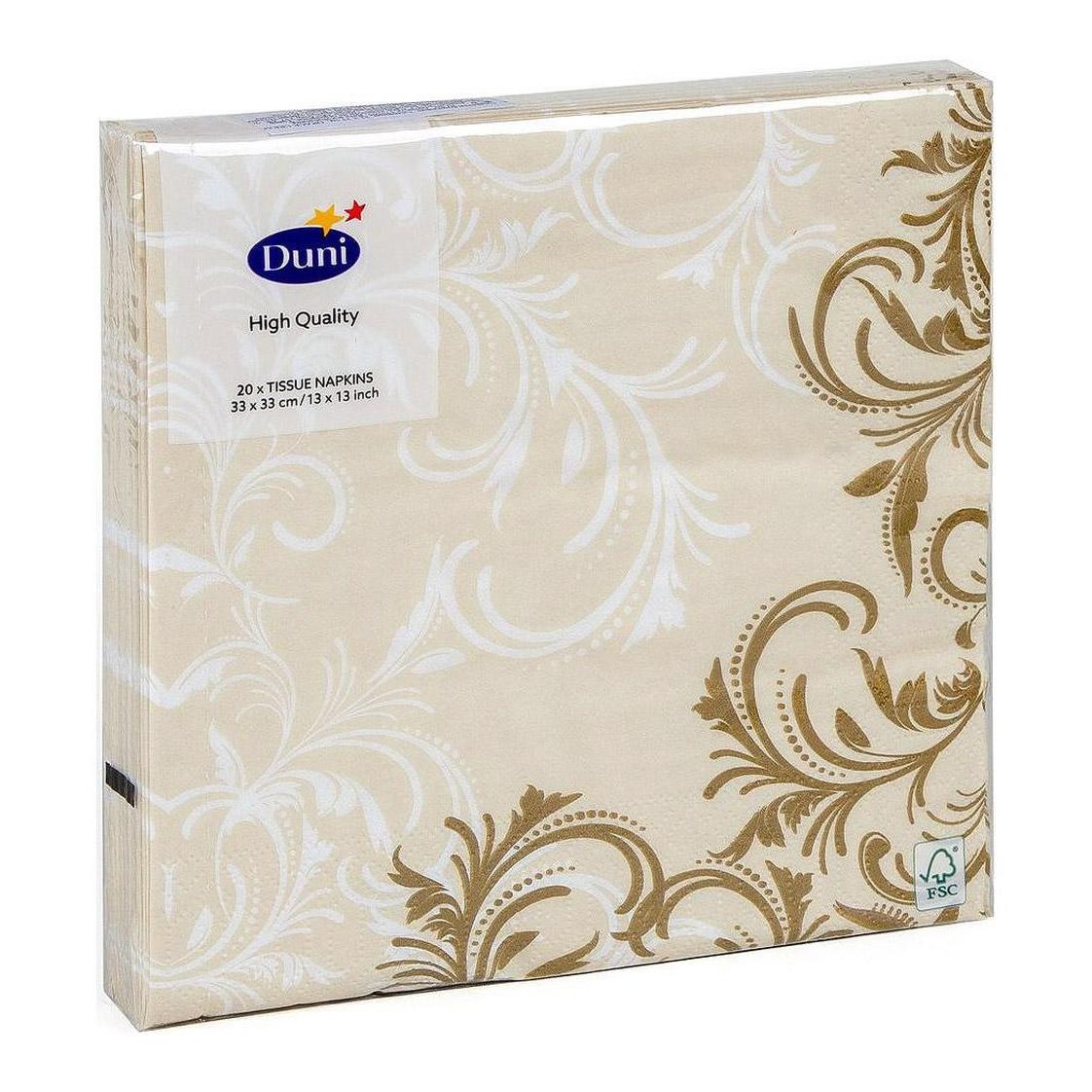 Салфетки Duni Grace Cream 33х33 см 20 шт салфетки duni firenze lime 33х33 см 20 шт