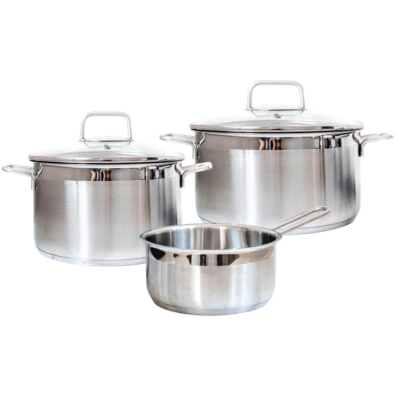 Набор посуды Swiss Diamond Premium Steel 5 предметов набор посуды swiss diamond premium steel sd ps set l3