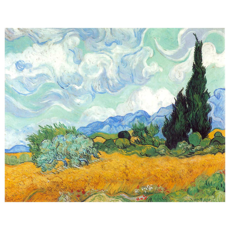 Купить Картина Пшеничное поле с кипарисом 50х62, 5 см, de Pacheco, картина, Россия, хлопок