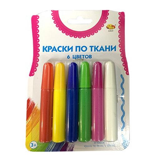 Набор ABtoys Краски по ткани 6 цветов краски abtoys