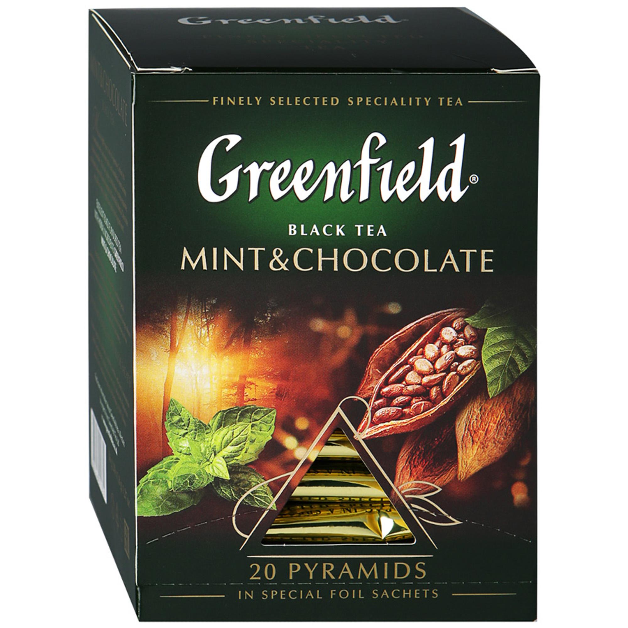 Чай черный Greenfield Mint & Chocolate 20 пакетиков чай черный greenfield magic yunnan 25 пакетиков