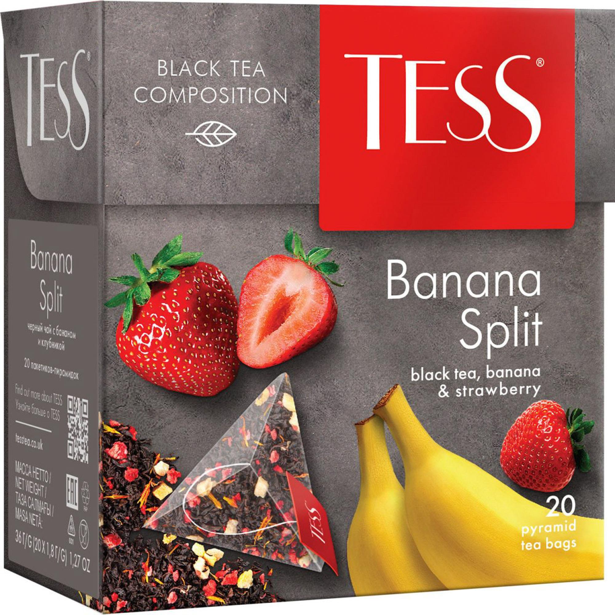 Чай черный Tess Banana Split 20 пакетиков