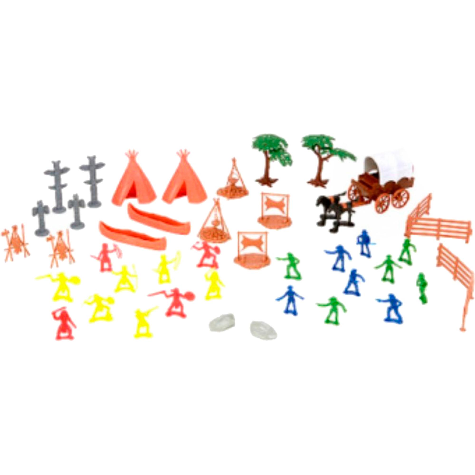 Игровой набор Toy Major Ковбои и индейцы фото