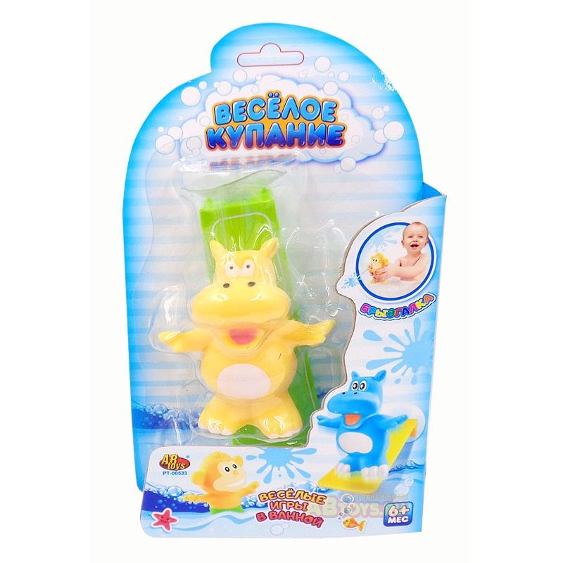 Набор игрушка-брызгалка с трамплином ABtoys Веселое купание из 2 предметов