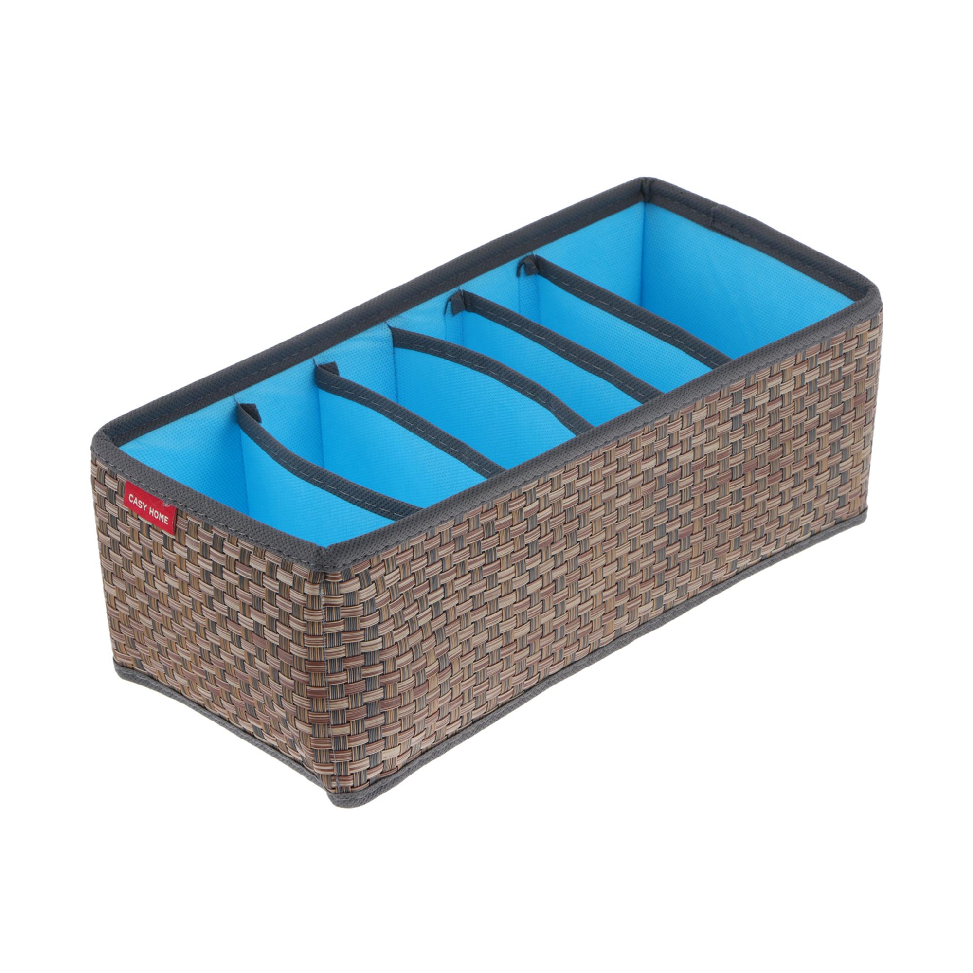 Органайзер для ремней Casy home 30х14х11см синий органайзер casy home для нижнего белья и маек синий