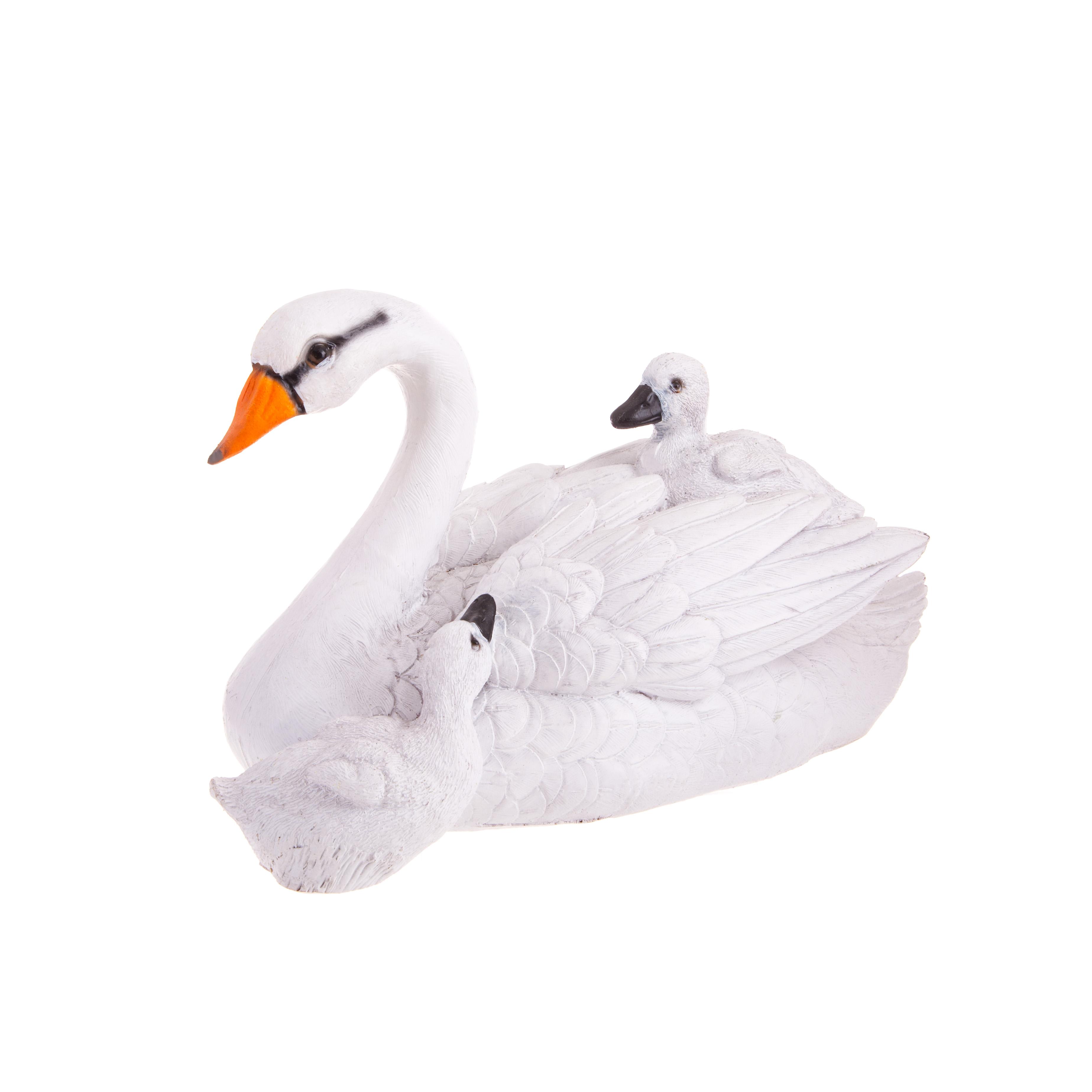Фигура садовая Лебедь с детенышами Тпк полиформ ФП510 фигура мишки комплект 3 штуки 18см 1360694