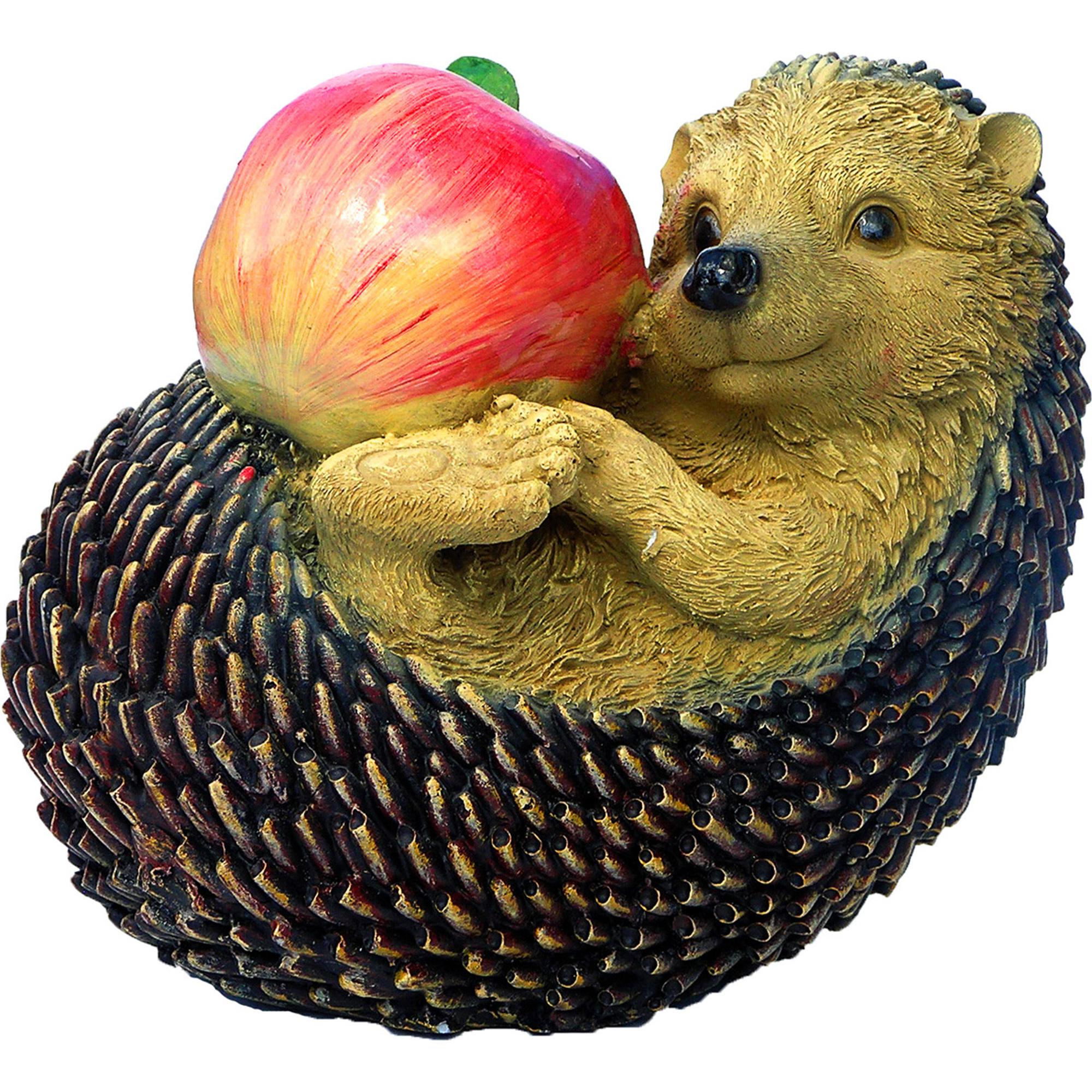 Фигура еж с яблоком натур иголками Тпк полиформ