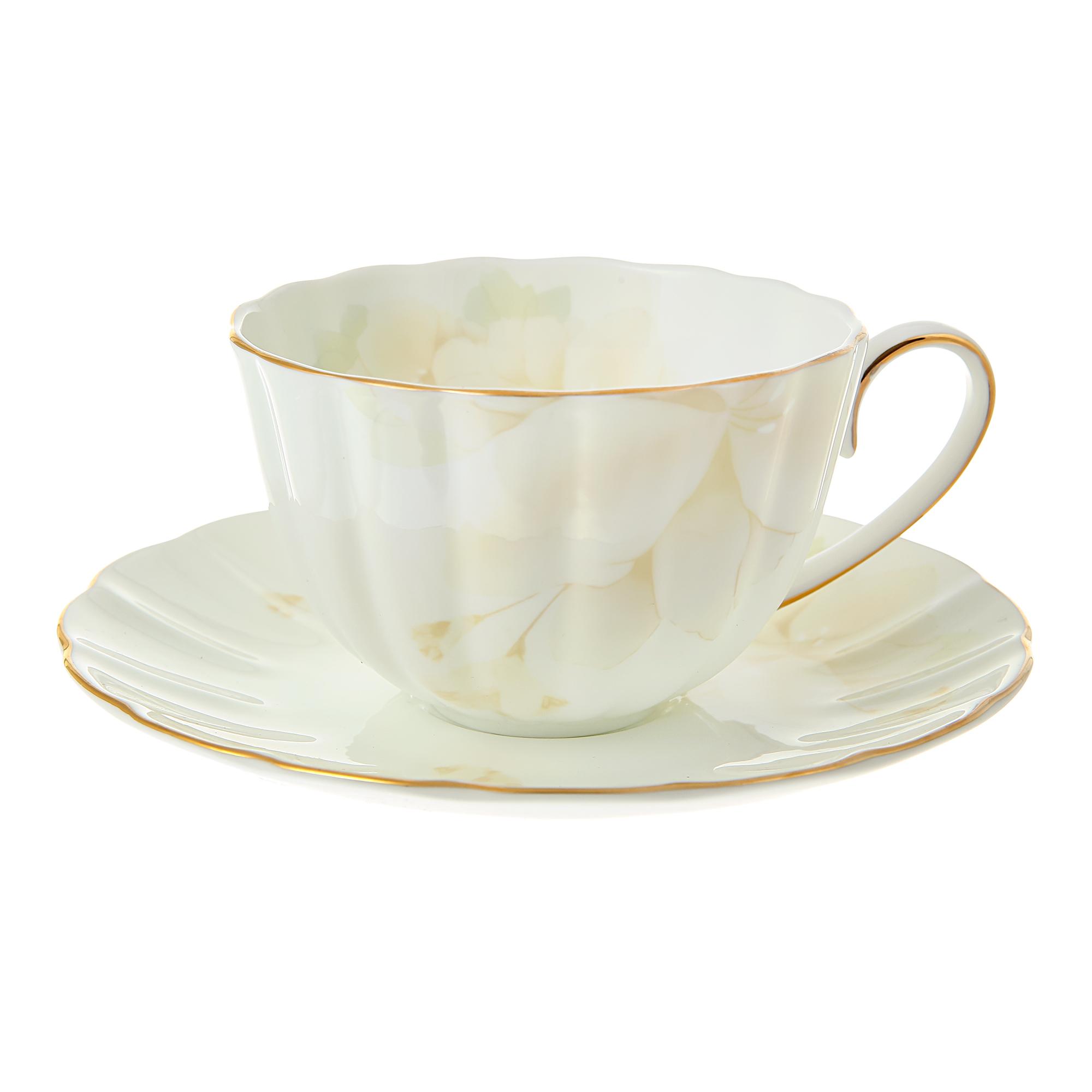Чашка чайная Hatori Магнолия крем 300 мл